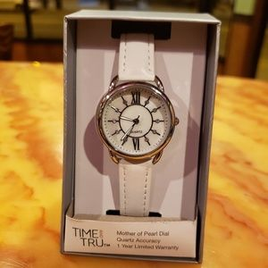 *NIB* Mother of Pearl Dial Watch Time and Tru